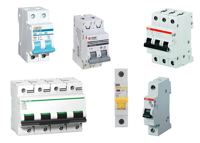 Выбор автоматического выключателя по току, мощности и сечению кабеля – картинка