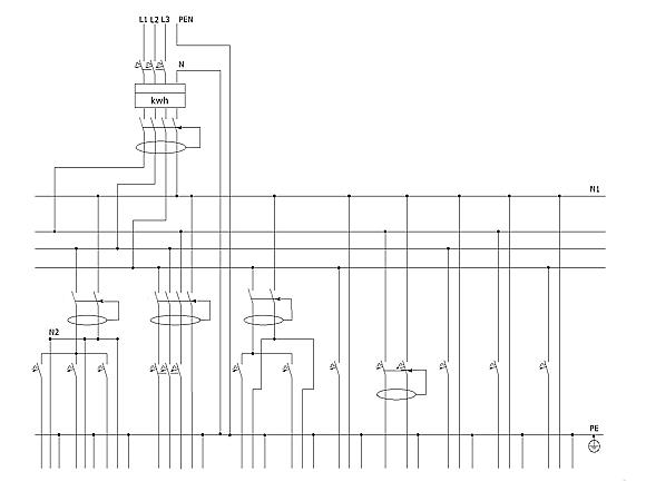 Схема учетно-группового щитка